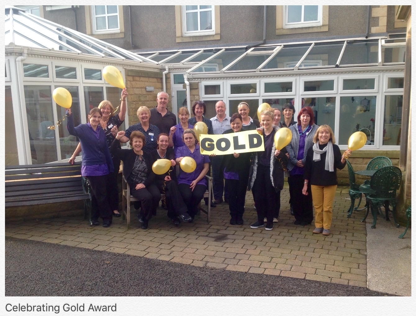 Celebrating our Gold Award